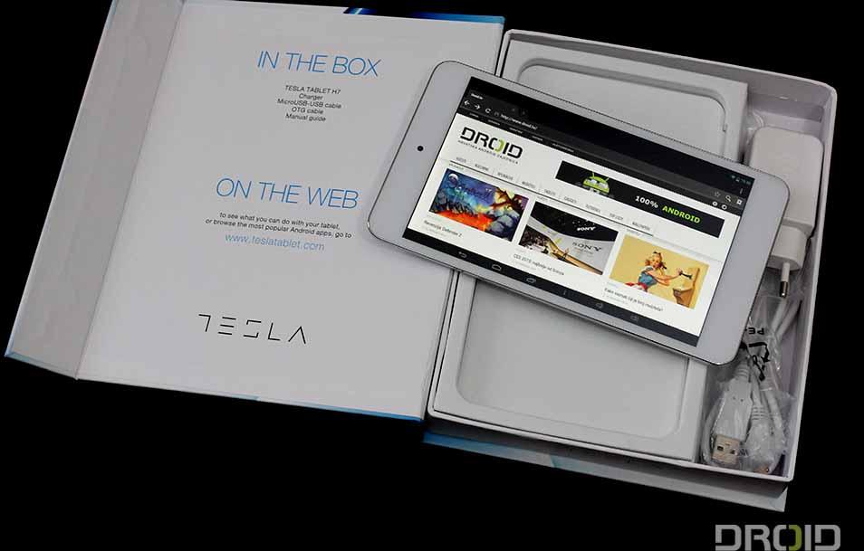 Tesla H7 kutija i tablet