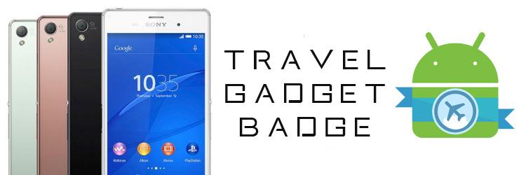 travel gadget badge