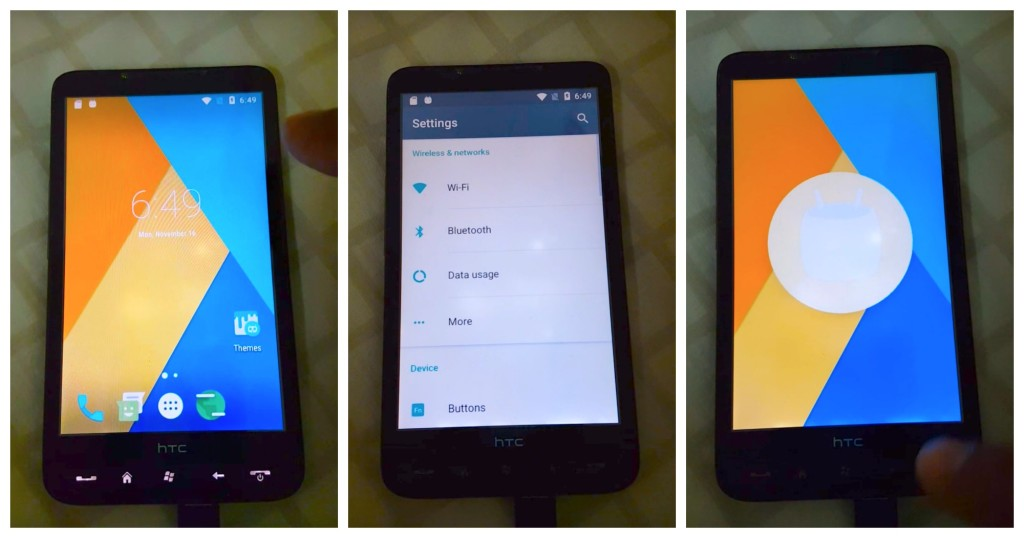 htc hd2 android marshmallow