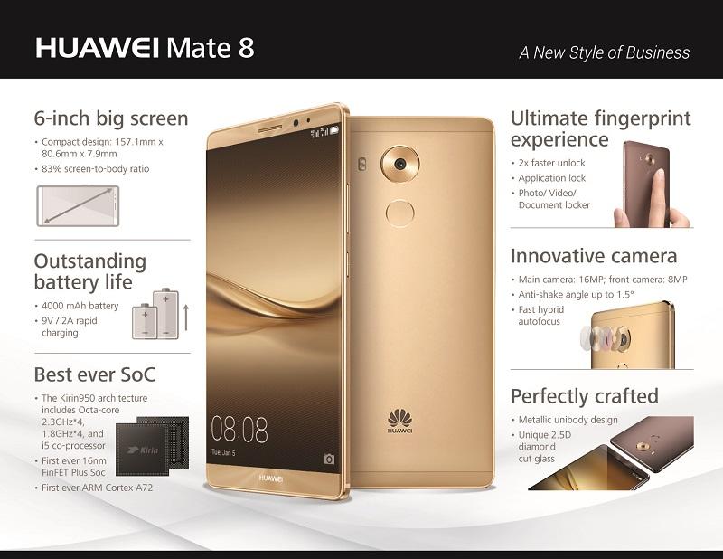 Huawei Mate 8 Infografika