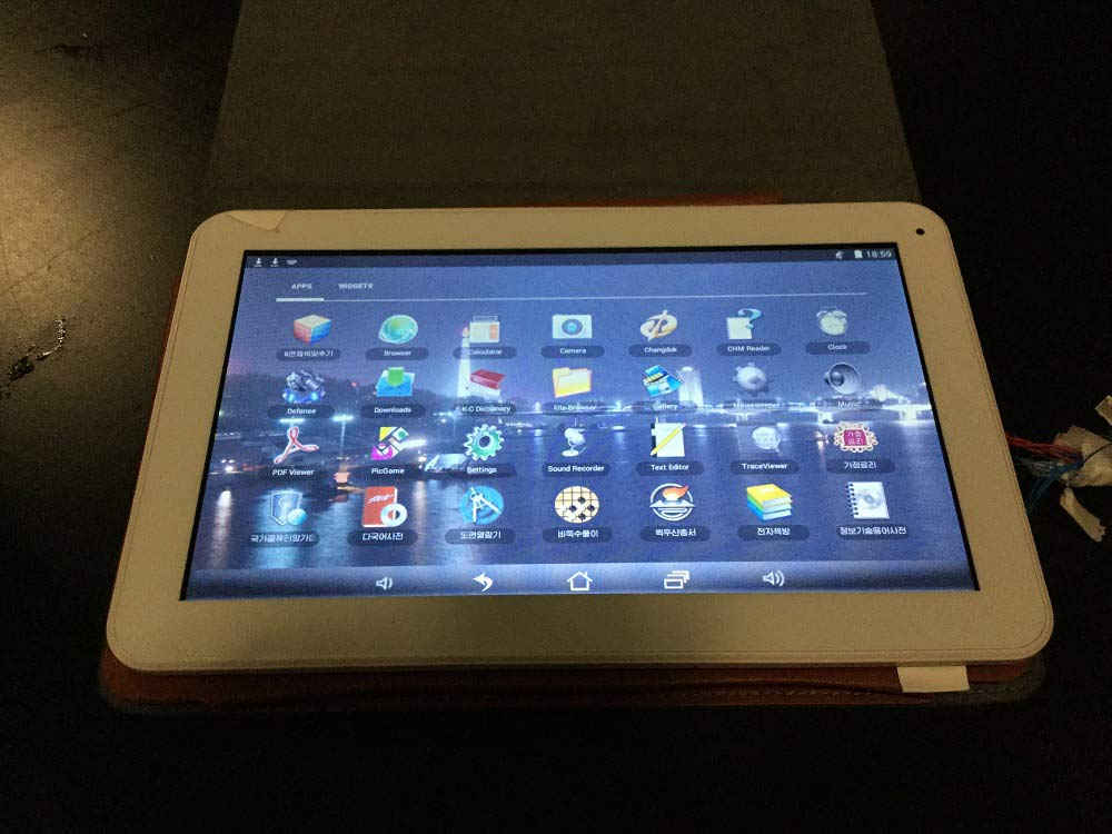 woolim android tablet koreja