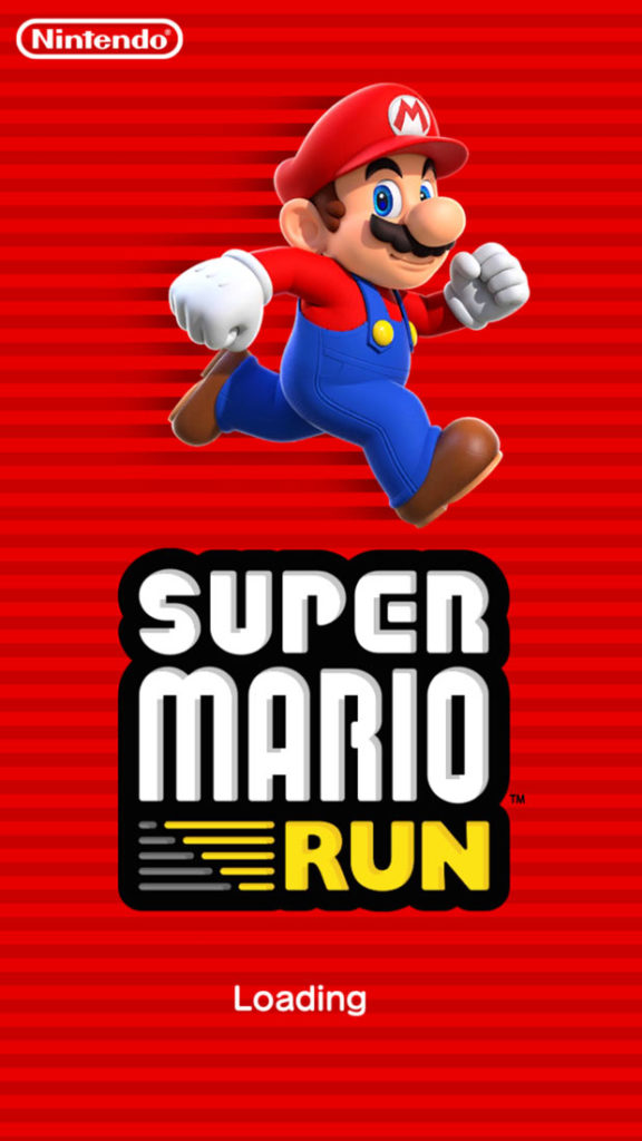 super mario run loading